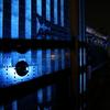 世界糖尿病デーにあわせ青色にライトアップされた金沢城を撮りに行った