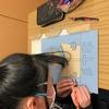 6年生:図工 木版画を彫り進める
