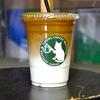 築地の「YAZAWA COFFEE ROASTERS」でアイスミルクコーヒー。