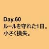 専業60日目結果。ルールは守れて、損失は限定的。