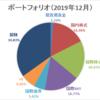 【資産運用】ポートフォリオ更新(2019年12月末時点)