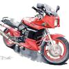 Kawasaki GPZ900R の水彩バイクイラストを描かせて頂きました!