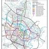 ハノイ市内交通状況とメトロ(都市鉄道)計画の進捗状況(2017年7月現在)