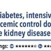 ACPJC:治療 糖尿病治療では厳密血糖コントロールと通常血糖コントロールでは、終末期腎不全や死亡に差は無い