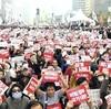 朴氏退陣求め、4万人デモ…1週間前の倍以上に