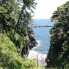 絶景!スリル満点!伊豆半島城ヶ崎海岸の門脇吊橋