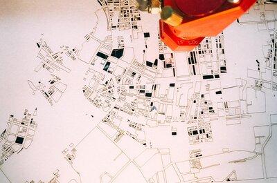 【レーザーカッター地図】エンジニアらしい結婚式アイテムを自作しました!#1