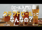 【ビール入門】クラフトビールってなんなの??原料とか定義とかのお話もどうぞ