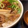 【驚天】すき家の「四川風 食べラー・メンマ牛丼」の巻【麻辣スパイス付き】