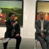 四谷の美術愛住館の小杉小二郎展で、小杉画伯に迫るインタビュー対談。
