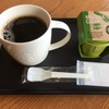 コーヒーと抹茶プリン