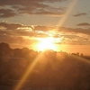 夕焼け雲の美しさにうっとり