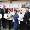 2日、共産党県議団が副知事と教育長に新型コロナウィルス感染症対策を求める申し入れ。