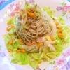 キャベツと山椒ちりめんの居酒屋風サラダ素麺