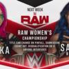 アスカとサーシャ・バンクスがRAW女子王座タイトルを賭けて対戦へ