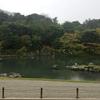 天龍寺   大方丈から曹源池の向こうに見る登竜門