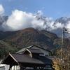白馬村、10月28日の北アルプス。雪の量が増えました?