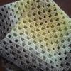 お休みの間に編んだもの まずはかぎ針編みのスクエア型ひざ掛け