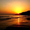 磯ノ浦(南海沿線)夕焼けがやたら美しすぎる件【和歌山夕景】