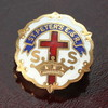 USAヴィンテージピンバッジ白10KGF|ST.PETER'S E.&R.教会日曜学校メンバーブローチ [ACS-18-001]