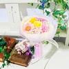 【生徒様作品♪】華やか作品✨いろとりどりのお花でできた花束♪
