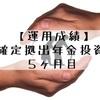 【運用成績】企業型確定拠出年金(5ヶ月目)
