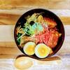 蒙古丼風麻婆野菜炒め丼