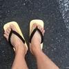 新しい靴で地味にダメージを受ける