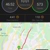 3日ランオフからの10km走