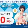 BIGLOBEモバイル、4/2より最大15,600円のキャッシュバックキャンペーンを開催