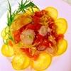 ぷるんと炙り水タコの冷製トマトパスタ