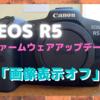 Canon EOS R5・R6のファームウェアアップデートが来た!〜静止画撮影時の「モニターオフ」に歓喜!〜