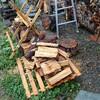 薪ストーブ前史54 梅雨の豪雨に薪が濡れる