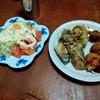 幸運な病のレシピ( 2307 )昼 :揚げ物(カツ、鳥、塩サバ、椎茸、オクラ、人参、ナス)