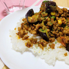 トロっと茄子のドライカレーの作り方/レシピ