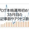 【ブログ運営報告】ブログを始めて3か月目のアクセス数と記事数