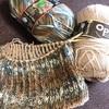 イギリスゴム編みの腹巻帽子