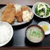 西川口の「あおき食堂」でエビ入りクリームコロッケと白身魚のフライ定食を食べました★