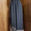 浴衣の帯を使用したワイドパンツ