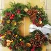 #36 山の花材でクリスマスリース作り