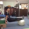バランスボール利用法4 肩と体幹、そして二の腕
