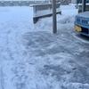 今年最初の雪かき