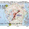 2017年10月05日 04時58分 有明海でM3.0の地震