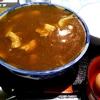北海道 夕張市 鹿の谷3丁目食堂 / 名物カレー蕎麦にご飯&卵ドボン