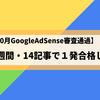 【2018年10月GoogleAdSense審査通過】ブログ開設3週間・14記事で1発合格した方法大公開【詳細解説】