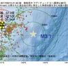2017年09月15日 21時32分 福島県沖でM3.1の地震