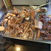 幸運な病のレシピ( 510 ) 朝:レバ・エビ・小鯛・ハマチ・芋フライ、鮭、煮しめ、ひたし豆