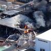 茨城で工場火災、1人の遺体発見 周辺に一時避難指示