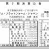 株式会社プレミアム・プラットフォーム・ジャパン 第2期決算公告