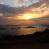 大星山と琴石山で夕陽を見送る